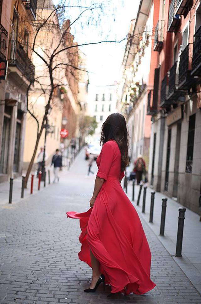 vestido rojo fiesta boda invitada perfecta blog atodoconfetti red dress