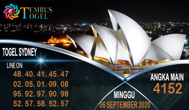 Taruhan Angka Togel Sidney Minggu 06 September 2020