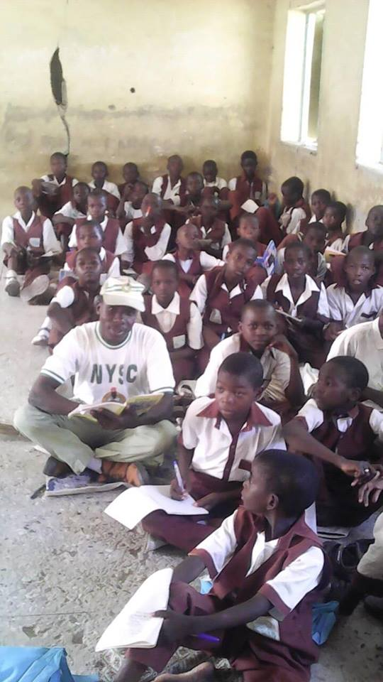 Image result for See The Poor State Of A School In Yobe State Where Students Sit On The Floor. (Photos)