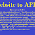 Website to Apk in very low price convert website to android app source code