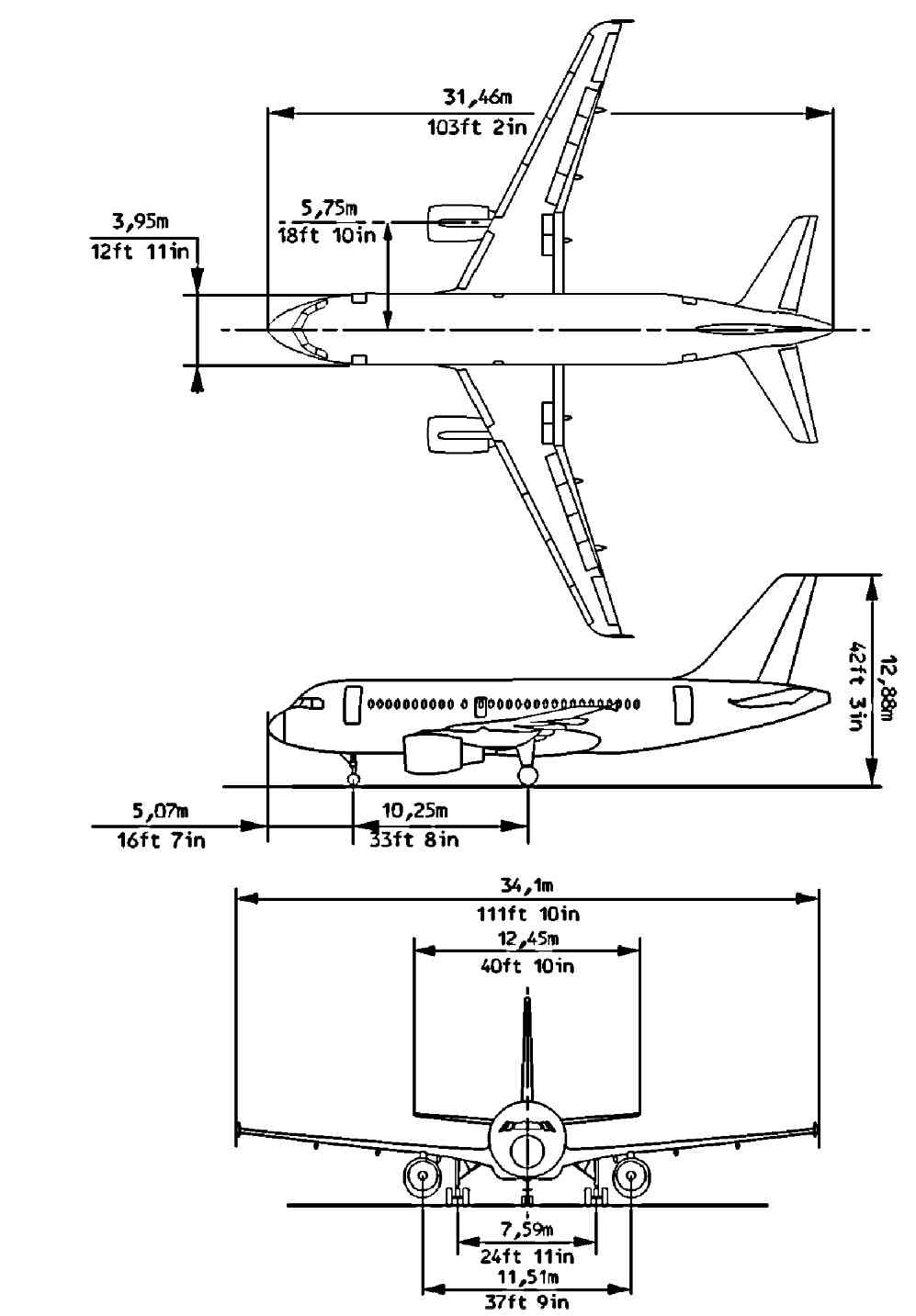 Airbus A320 Dimensions Pictures To Pin