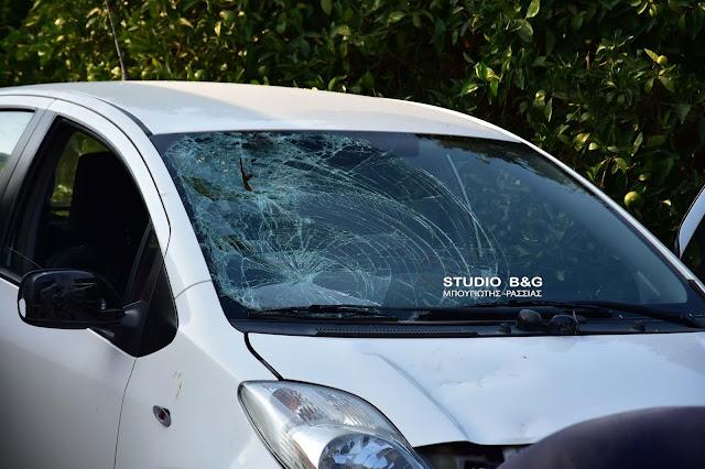 Αργολίδα: Σφοδρή σύγκρουση αυτοκινήτου με μηχανάκι - Τραυματίας ο οδηγός του δίκυκλου