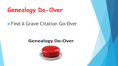 Genealogy Do Over (Go Over) Find A Grave - Photo Citations