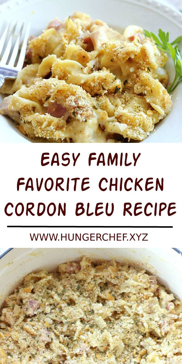 Easy Family Favorite Chicken Cordon Bleu Recipe - This Chicken Cordon Bleu Noodle Bake makes an easy, comforting dinner any day of the week. It's a delicious one-pot meal the whole family will love! #easychickenrecipe #chicken #chickenrecipe #familyrecipe #dish #maindish #dinner #dinnerrecipe