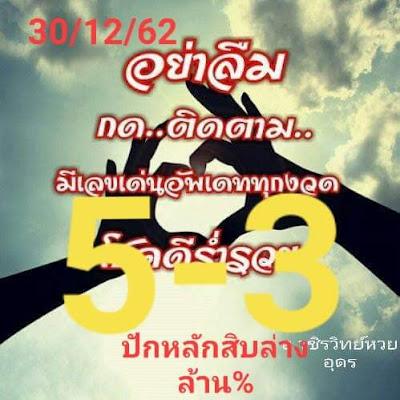 Thai Lottery 3up Direct Result Facebook Timeline 30 December 2019