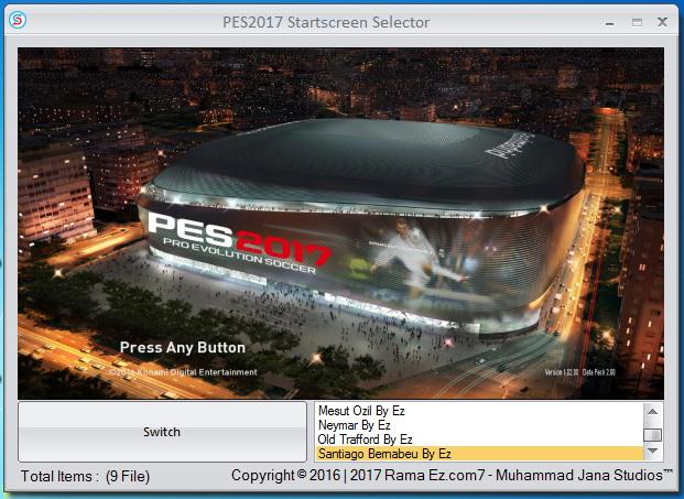 PES 2017 Starscreen Selector by Ez and Muhammad Jana