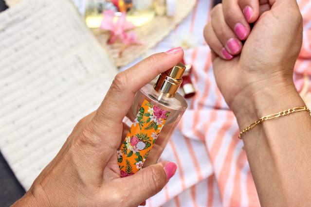 monoi hei poa, eau de toilette sensualité, produits de beauté de l'été, les petites bulles de ma vie