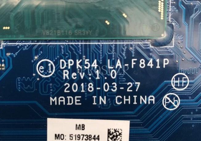 LA-F841P Rev1.0 DPk54 HP 15-cx0001na Bios