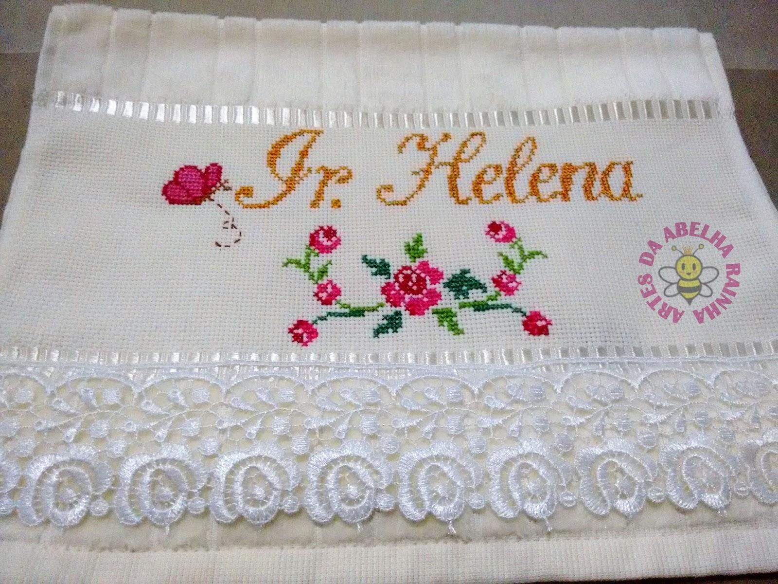 Artes Da Abelha Rainha Toalhas Personalizadas Com Flores Bordadas