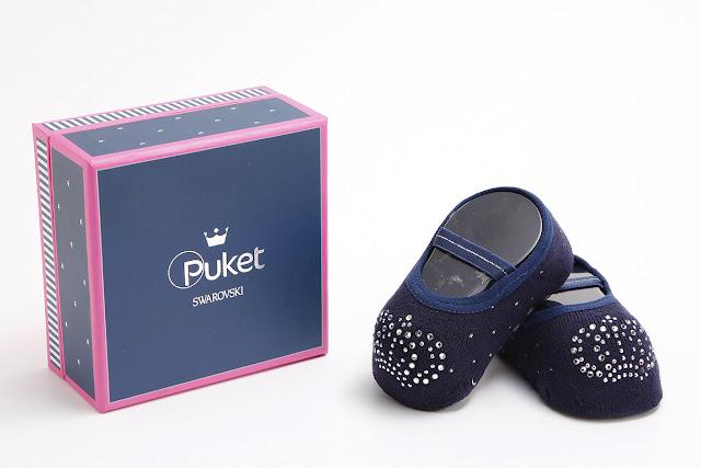 Puket e Swarovski desenvolvem meias para recém-nascidos que são verdadeiras jóias