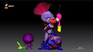 """""""BLiP""""_""""(Xixax Capture) - Queen Cosma Zarah,Orbit, Warp, EBN, OZN & Grawg """"_Character design & ZBrush Sculpture ©Pierre Rouzier"""