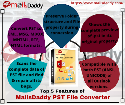 best Outlook PST file converter featues