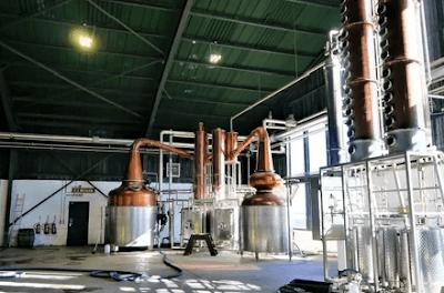 Colunas destilação processo produção gim gin