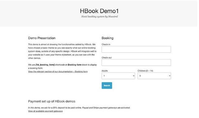 Hbook - 5+ Plugin Booking Hotel Terbaik di Wordpress