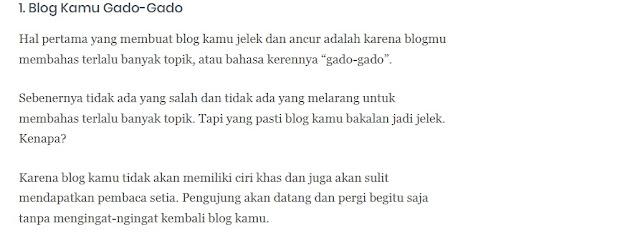 Blog Jelek dan Paling Jelek Itu Ternyata Saya Yang Punya