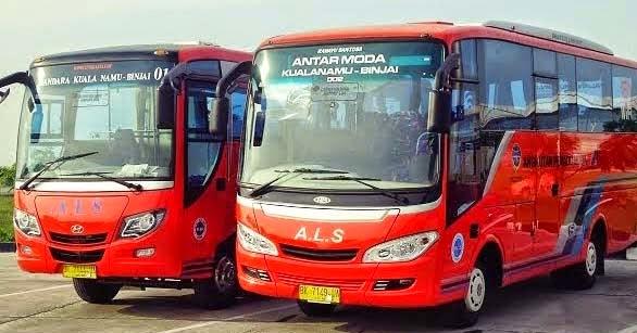 antar lintas sumatera baru 2014 shuttle bus binjai medan bandara kuala namu