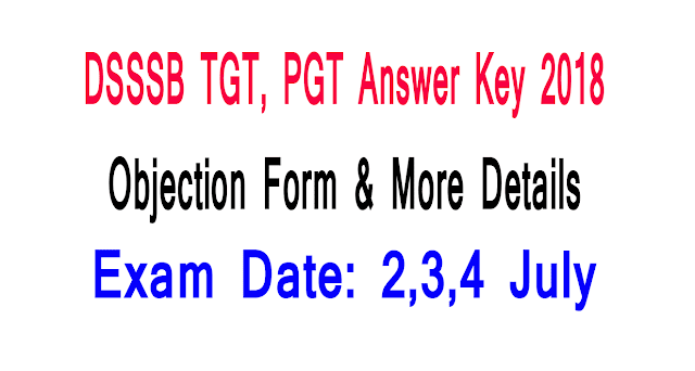 dsssb answer key