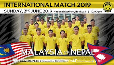 [LIVE] Malaysia vs Nepal (Perlawanan Persahabatan) 2.6.2019