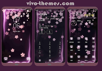Flower Light Theme For Android Vivo Phones