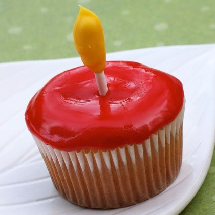 Lumiere's Christmas Candle Cupcakes