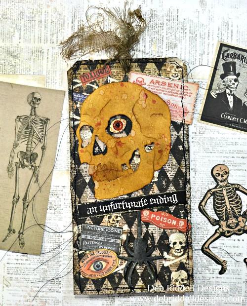 An Unfortunate Ending Halloween Tag - Deb Riddell Designs