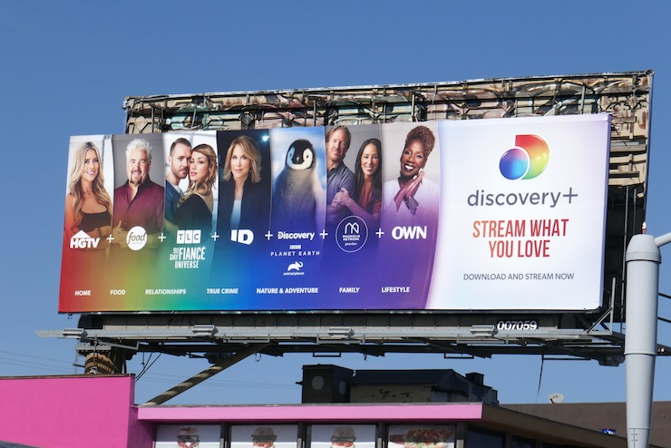 Discovery+ launch billboard