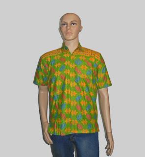 Baju Batik Pria [H1286] Hijau Pupus