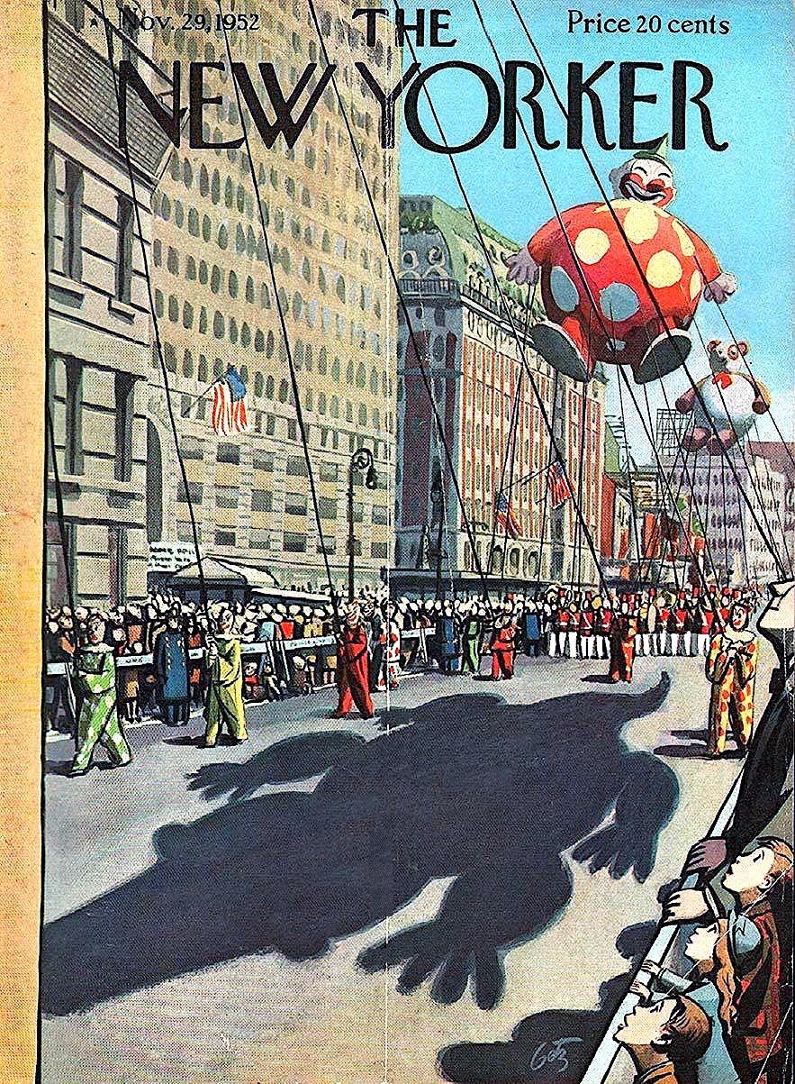 Arthur Getz magazine illustration for The New Yorker Magazine November 29 1952