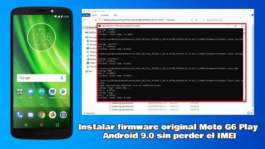 Flashear Moto G6 Play Android 9.0 - Tutorial