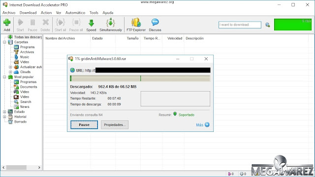 Internet Download Accelerator Pro 6 imagenes