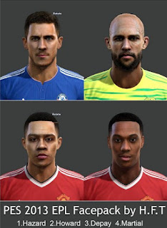Faces: Depay, Hazard, Howard, Martial, Pes 2013