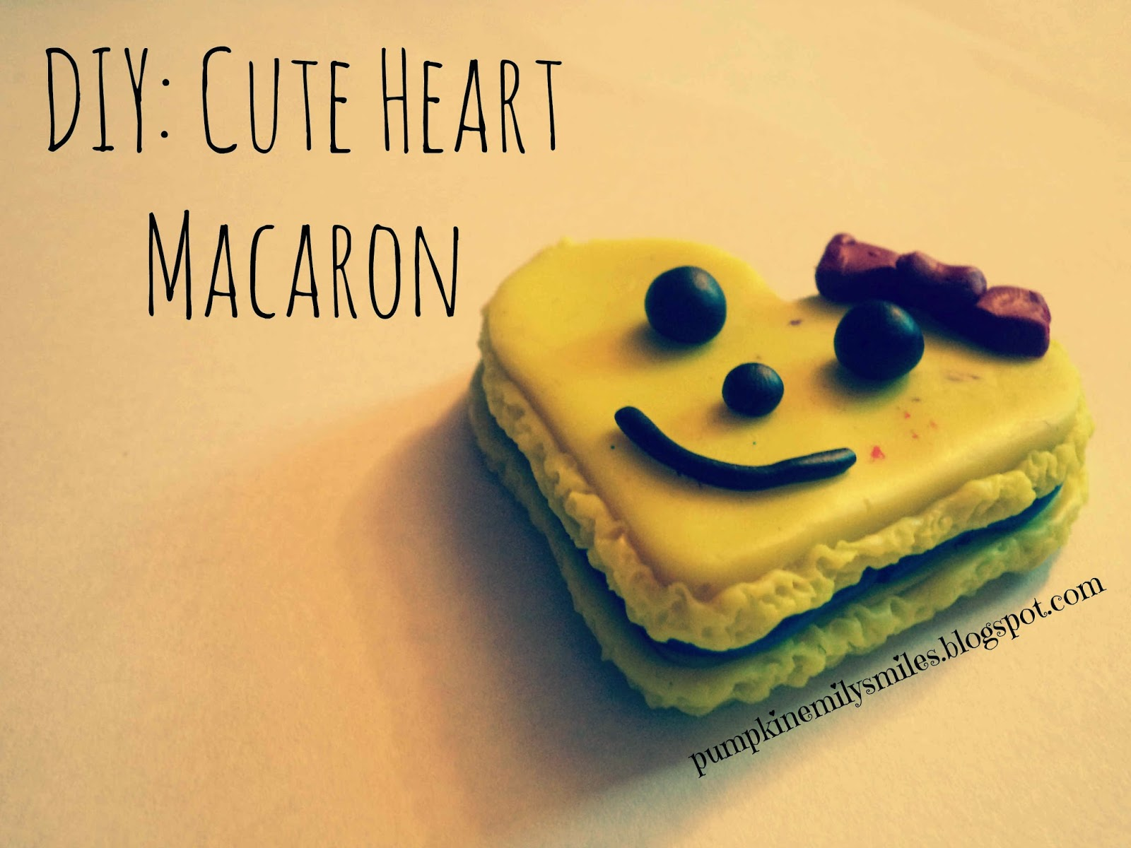 DIY: Cute Heart Macaron