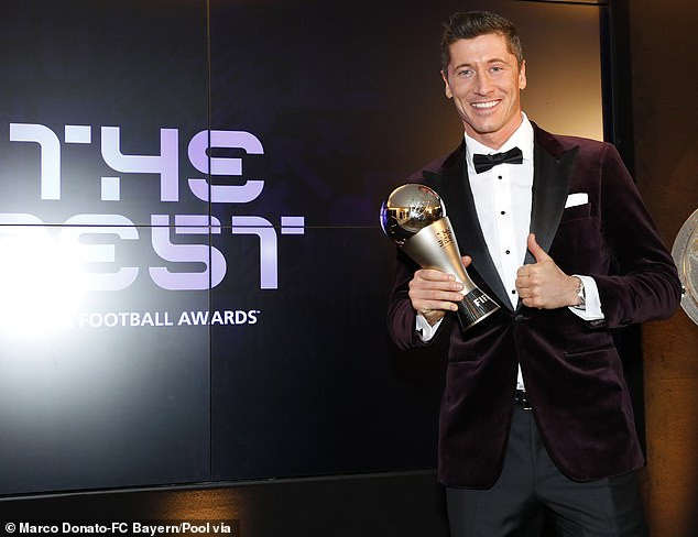 Robert Lewandowski defeats Lionel Messi and Cristiano Ronaldo to win FIFA's best player award