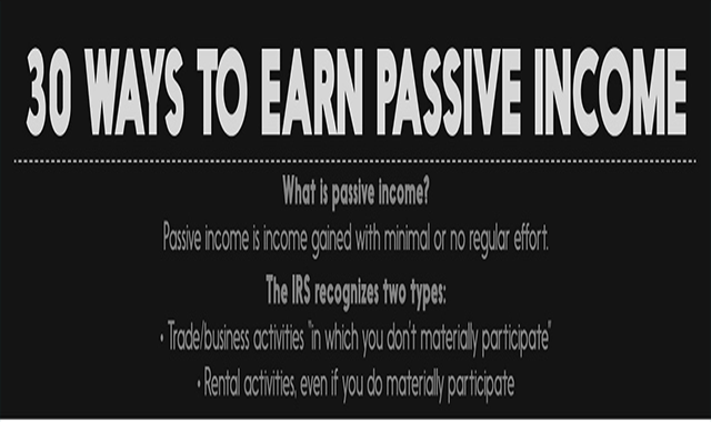 Here are 30 Ways to Earn Passive Income