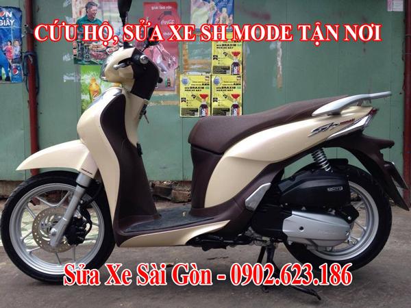 Cứu hộ xe máy Honda SH Mode tận nơi tại TpHCM. Gọi ngay 0902623186 để sửa chữa