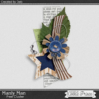 Guest Creative Team (September), Annemarie, for Connie Prince ? Manly Man and Freebie Cluster