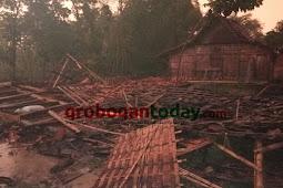 Puting Beliung : Empat Rumah Roboh di Desa Crewek