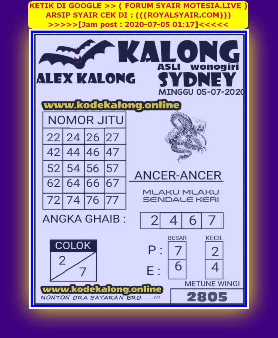 Kode syair Sydney Minggu 5 Juli 2020 232