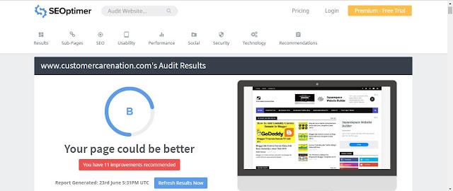 Seoptimer - Free Google Seo Checker Tool