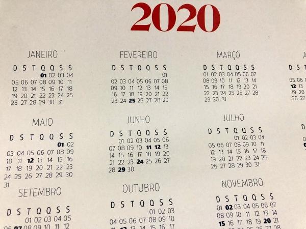Governo de Alagoas divulga calendário de feriados previstos para 2020
