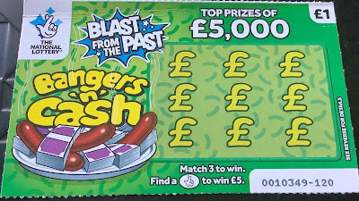 Bangers 'n' Cash National Lottery Card (2019 Edition)