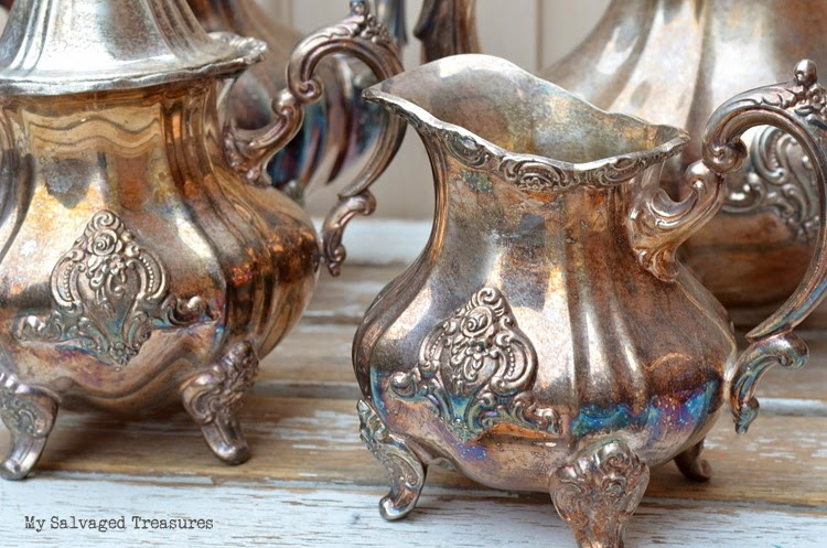 Vintage Poole silver set