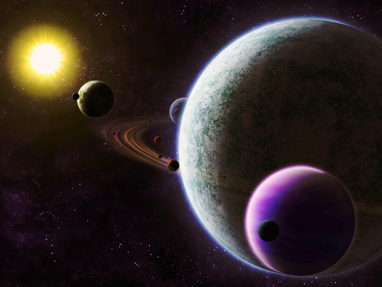 real planets and stars background - photo #2