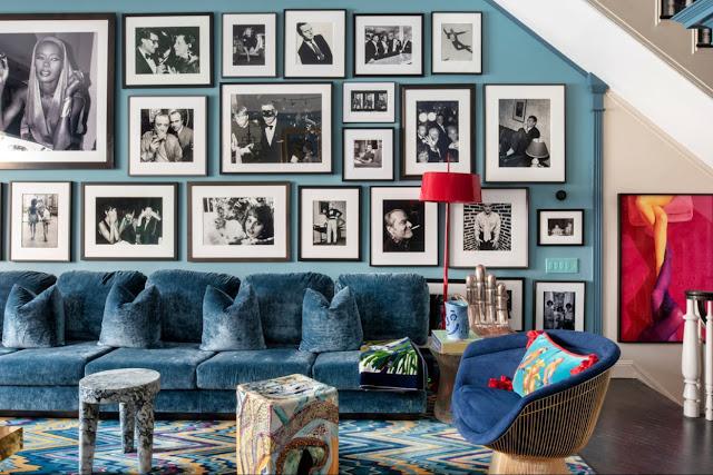 Ispirazione d'arredo interior parete foto bianco e nero