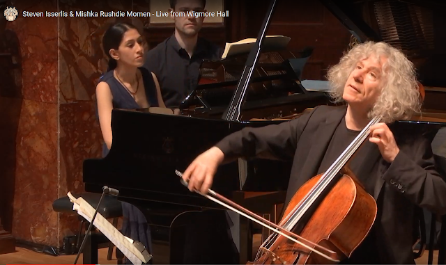 Mishka Rushdie Momen & Steven Isserlis at the Wigmore Hall (Photo from live stream)