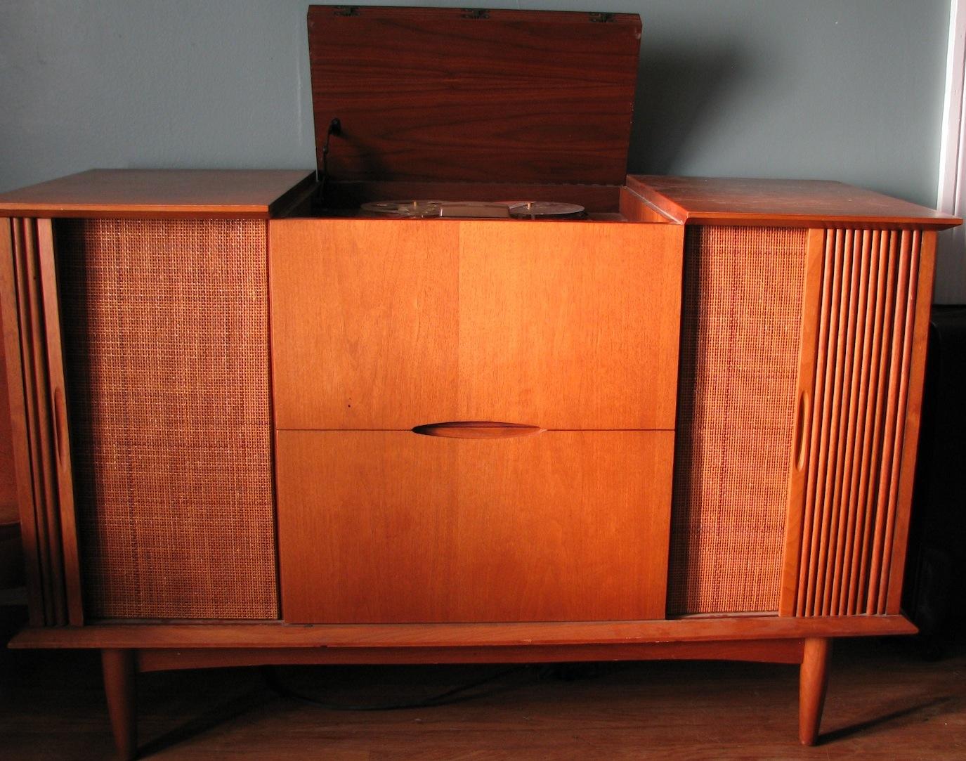 retro vintage modern hifi Ampex Mid Century Modern