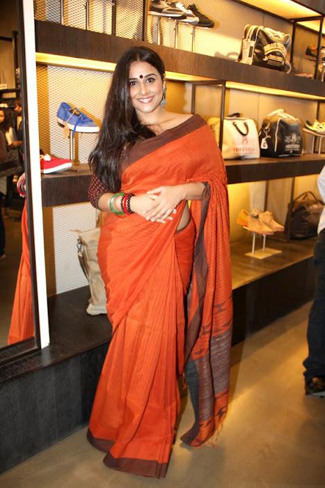 Vidya Balan Hot Photos In Orange Designer Saree