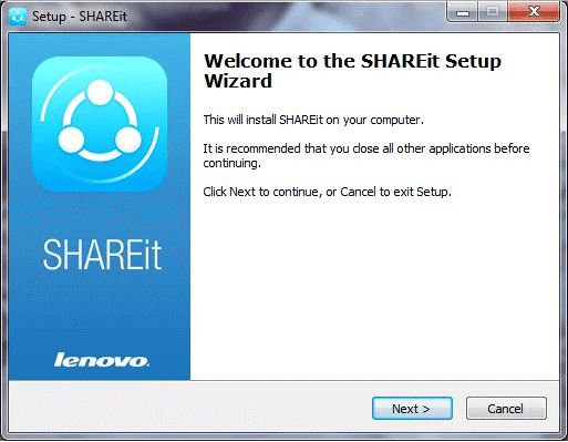 share it for pc setup wizard