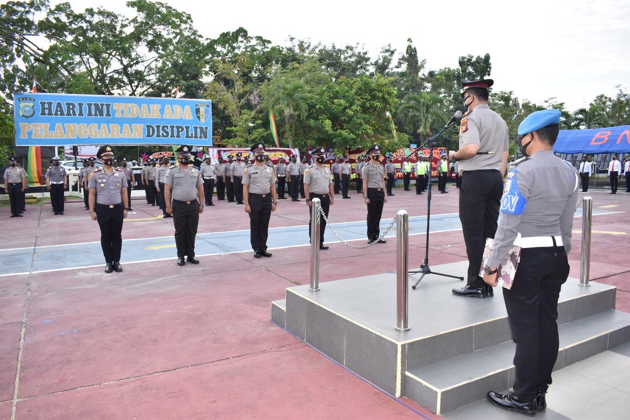 Satu Perwira Pertama (Pama) dan 59 Bintara Polres Inhu Dipromosikan.