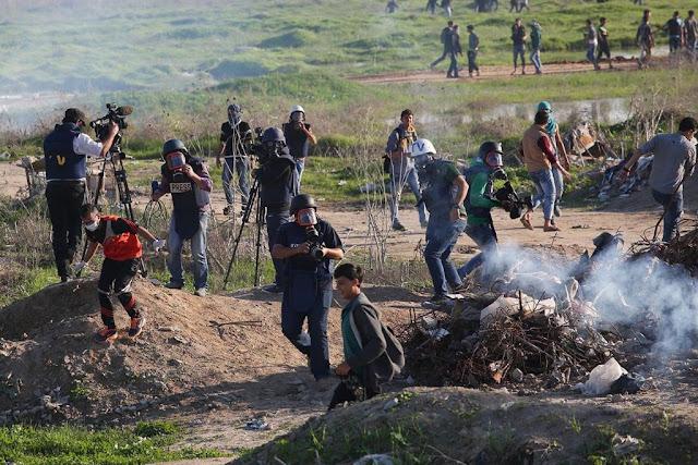 """Israel"" serang wartawan Palestina yang meliput demonstrasi Al-Aqsha"
